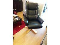 black swivel recling chair