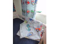 Next Traffic Jam Curtains And Matching Single Duvet Cover