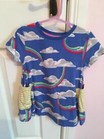Mini Boden rainbow dress 3-4 years