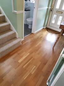 Real oak topped engineered wood flooring