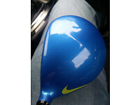 Nike Vapor Fly Pro driver,fitted with stiff flex Diamana 60g shaft
