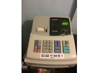Sharp XE-A102 Electronic Cash Register with manual and x6 spare till rolls