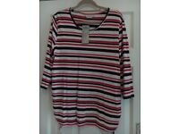STRIPED SIDE TIE TOP (MATERNITY) SIZE 18
