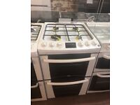55CM WHITE ZANUSSI GAS COOKER WITH COVER