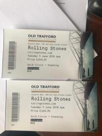 Rolling stones tickets X2 - Manchester
