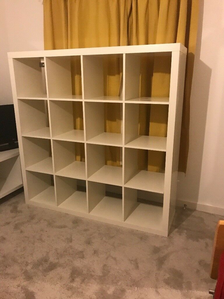 outlet store 90451 c5d2b Ikea Kallax cube shelving unit 4 x 4 large white storage e.g. Bookcase room  divider display cabinet | in Congleton, Cheshire | Gumtree
