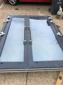 New Double Aluminium framed commercial Entrance Doors.