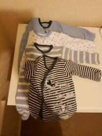 First size sleepsuits and vests