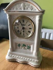 Beleek pottery clock