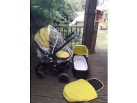 Graco Evo Lime Pushchair AND Carrycot + Accessories SE12