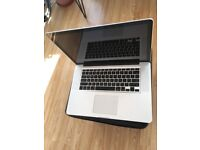 Macbook pro 15 inch Intel 2.4ghz Core i5 processor laptop SSD hard drive 8gb ram with new battery