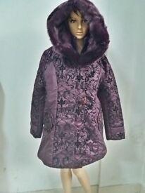 Middle-aged winter jacket women Thicken Warm Cotton-padded Slim Plus Size Fur Collar winter Coat