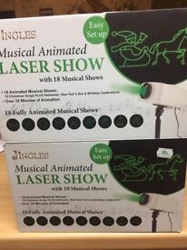 Musical animated laser show