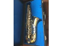 Alto Sax, lovely instrument in hard case, Selmer mouthpiece, £400
