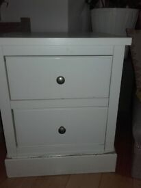 NEXT white bedside table/chest of drawers