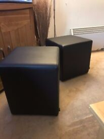 Faux Leather Cube Seat (2 Available)