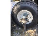 Agri trailer stub axle for farm trailer machinery etc