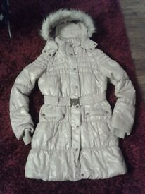 Next Ladies Long Padded Hooded Coat Size 10