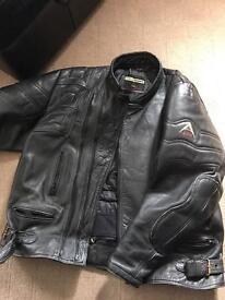 Ace leathers motorcycle jacket size 56 xxxl