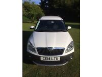 IMMACULATE SKODA ROOMSTER SCOUT 105 BHP WHITE 2014 DIESEL WARRANTY BLUETOOTH 1 MATURE LADY OWNER