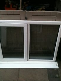 Upvc window with clear double glazed glass and 1 opener