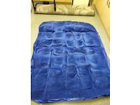 Blue double air bed