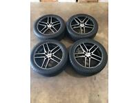 "Set of 18"" alloy wheels and tyres Vauxhall Vivaro Renault Trafic"