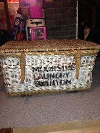Large Vintage whicker basket