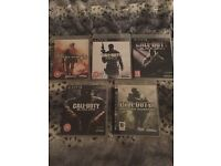 Ps3 and 5 games call of duty