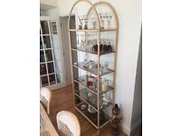 Glass shelf unit - vintage and unique - immaculate condition