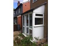 White Double Glazed UPVC Porch