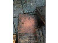 100 paving slabs 45cm x 45cm ... good condition if weathered