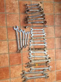 Spanners - 21 Imperial and 5 Metric