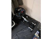 Wheel Stand + Logitech G29 Wheel with peddles