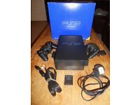 Playstation 2 PS2 (boxed), 2 controllers, memory card & 10 games