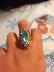Stunning ocean blue ring