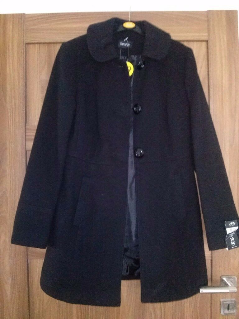 Black coat, brand new with tags