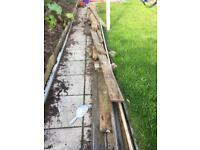 Free old decking board.