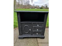 Vintage dresser/cabinet/cupboard/bureau. Rustic shabby chic. Distressed graphite/crystal knobs.