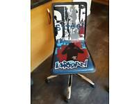 Graffiti style swivel desk chair