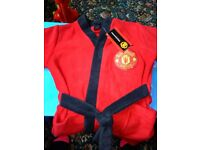 Boys manchester United dressing gown
