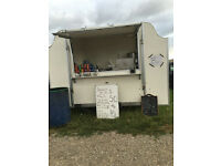 A SUPER CATERING TRAILER AT PRESENT USED FOR DONUTS ,DRINKS ECT BDS MAKE THIS HAS A REG SUNDAY SPOT