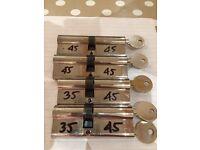 4 x Euro Lock Cylinders (Keyed Alike)