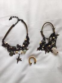 Pilgrim Necklace, Bracelet and Ring