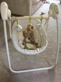 'Loved so much' baby swing