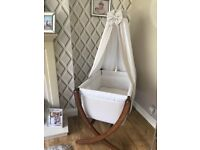 Leipold Baby Crib/Moses basket with canopy