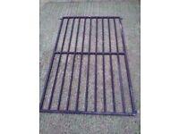 Black steel metal security grid