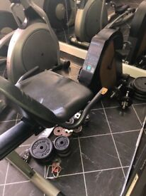 Lateral cycle machine exercise bike