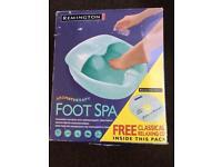 Remington aromatherapy foot spa. Model: F7026. 2 settings.