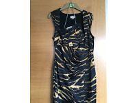 Karen millen dress with matching bag,size 14,worn once